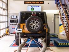 Jeep Wrangler na výkonovej stolici